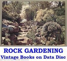 Rock Jardinería rocosa alpines Colección 18 libros de jardín de colección en un disco de datos