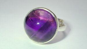 Beautiful Handmade Natural Amethyst Ring 925 Sterling Silver Gemstone Sizable