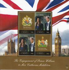 Micronesia 2010 MNH Royal Engagement 4v M/S II Prince William Kate Big Ben
