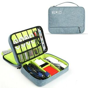 Cable Organiser Bag Two Layer Universal Portable Gadget Bag Electronic Accessori