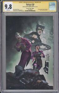 Batman #100 CGC SS 9.8 Miguel Mercado remarked VIRGIN cover DC Joker Punchline