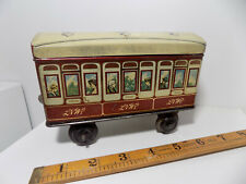 Jacob & Co Railway Train Carriage Figural Biscuit Tin c1920s                 Toy