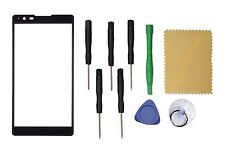 """Black Front Screen Glass Lens Replacement for LG X Power LS755 K220 5.3""""+tools"""
