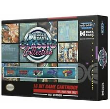 Nintendo SNES 5 Cartucho De Juego Retro-bit Europa Data East Colección Clásica caliente
