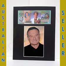 Robin Williams in $1 Million Novelty Money Note & 4x6 in Matted Memorabilia 8x10