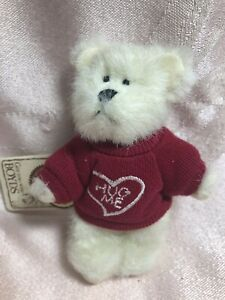 Boyds Bears Mini Plush Message Bear Will U Hugme