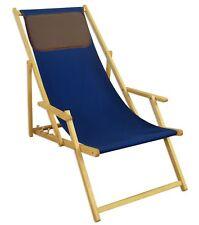 Chaise Longue Bleu Transat Hêtre pour Jardin Meubles de 10-307 N Kd