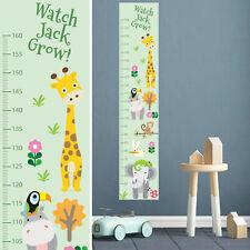 Personalised Customised Height Ruler Growth Chart  Cartoon Zoo Animals Design AU