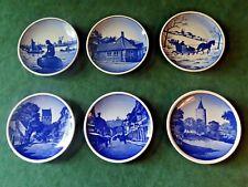 "Royal Copenhagen And Aluminia Miniature Collector Plates, Set Of 6, 3-1/8"" D"