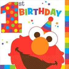 Elmo Turns One 16 Luncheon Napkins 1st Birthday Party Sesame Street