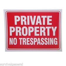 9x12 Private Property No Trespassing Novelty Warning Sign Gift Fence Post NEW