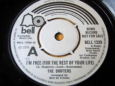 """THE DRIFTERS - I'M FREE (FOR THE REST OF YOUR LIFE)  7"""" VINYL DEMO"""