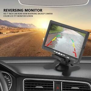 7 pouces vue arrière de voiture caméra de recul couleur écran LCD TFT moniteur M