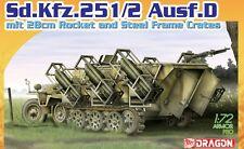 Dragon 7348 1/72 German Sd.Kfz.251 Ausf.D mit 28cm Rocket and Steel Frame Crates