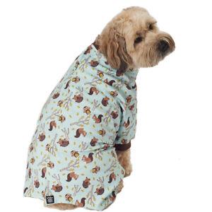 Petrageous Dog PJ's Owl Squirrel Hedgehog Woodland Animals Pajamas  XS S M L XL