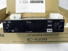 Icom Ic-a220t VHF Airband Transceiver Tso'd Panel Mount