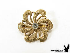 Scarf Lapel Collar Pin Brooch Victorian Antique Love Knot Twist Circle