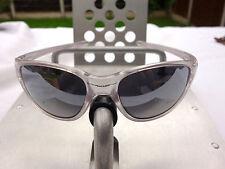 Oakley Frogskin Sunglasses Matte Clear Frame - Black Ird Lens Vintage early 90's
