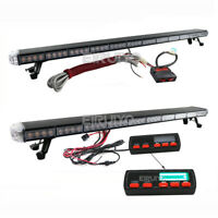 "25"" to 63"" LED Recovery Strobes Light bar 12/24v Flashing Beacon Car Truck Light"