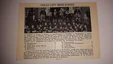 Ocean City High School & Pleasantville New Jersey 1927 Football Team Picture
