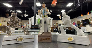 Elvis Presley Small Decanters Mccormick Music Box Lot Of 3