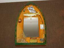 """New listing 14 3/4"""" High Fish Fisherman Wall Hang Mirror Display"""