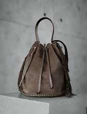 All Saints Suede Bucket Handbag USED Gently Worn