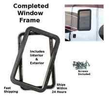 Black RV Camper Trailer Entry / Entrance Door Window Frame Interior & Exterior