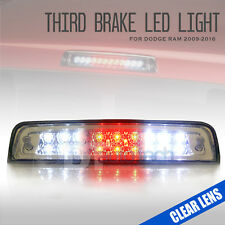 Clear Lens 2009-2017 Ram 1500 LED Rear 3rd Third Brake Light Stop Cargo Lamp