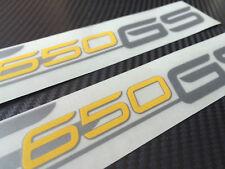 BMW F650 GS decals sticker graphic kit silver/yellow
