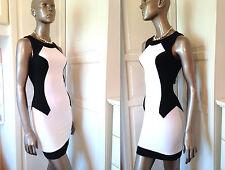 TOPSHOP SIZE 8 Pencil Dress~Black & White