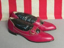 Scarpe vintage da donna rosso in pelle
