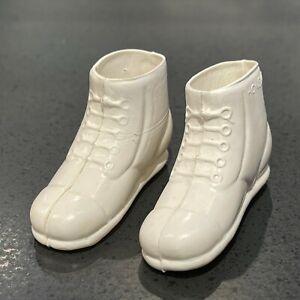 GI Joe Original Vintage Hasbro Pair of White Boots. Excellent Condition. Lot #5