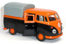 VW Bulli T1 Doppelkabine Pritsche rot Modellauto 1 37 Metall Spritzguss WELLY