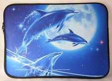 Dolphins Laptop Carrying Case Sleeve by Michael Ward. Design: Handle & shoulder