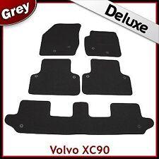Volvo XC90 Mk1 2002-2015 7-Seater Tailored LUXURY 1300g Carpet Car Mats GREY