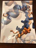 Archives Of Biochemistry And Biophysics Volume 674 October 2019