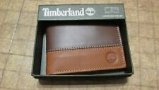 Timberland Wallet Brown Tan bi fold commuter free shipping new