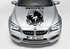 TRIBAL BATMAN CATWOMAN KISS DESIGN DECAL VINYL GRAPHIC HOOD CAR TRUCK