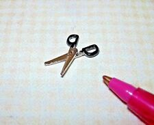"Miniature TINY Hinged/Moving Metal Scissors (11/16"" Long) for DOLLHOUSE 1:12"