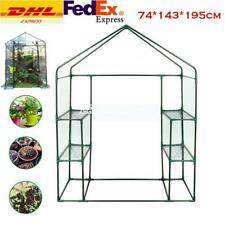 Greenhouse PVC Plastic Outdoor Garden Grow Bag Green House with Shelves DHL