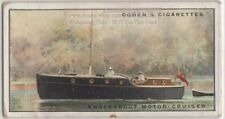 Knockabout Motor-Cruiser Yacht 1930s Ad Trade Card