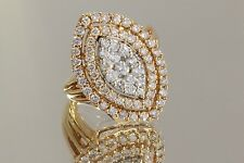 3.00Ctw H/Si Diamond Right Hand/Cocktail Ring 14K Rose Gold Size 7 ¼