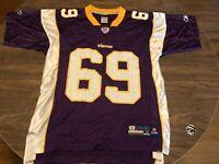 Jared Allen 69 Minnesota Vikings NFL Reebok Medium Purple Jersey