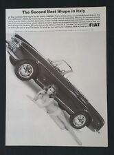 Vintage 1966 Fiat 1500 Spider Girl in Bikini - Full Page Original Ad