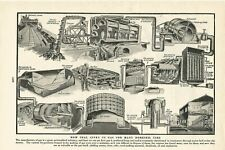 HOW COAL GIVES US GAS FOR DOMESTIC USES  c 1950 ILLUSTRATION PRINT PICTURE