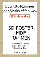 Wechselrahmen für A3-3D-Poster 3cm MDF Holzfaserwerkstoff 30x42cm Eiche