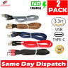 2 x Fast Charging Cable Nylon Braided USB C Type-C Cord For Samsung S8 S9 LG Lot