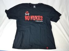 No Nukes More Rock Okinawa Yankees Protest Shirt Size XL Black