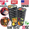 Meal Food Prep Containers Storage Bento Lunch Box Plastic Compartment With Lids